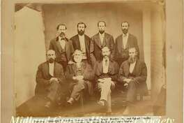 A Bradley family portrait. Egbert is standing at the far right. (Photo provided/Midland County Historical Society)