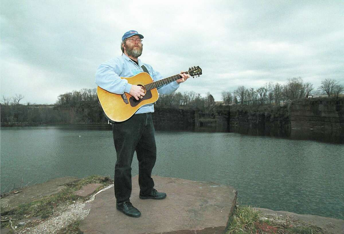 Tom Callinan sings about the quarries in Portland in this 2001 picture.