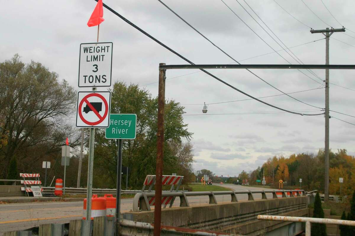 The bridge over the Hersey River on Chestnut Street in Reed City will be closed to traffic for the next two months. Traffic on and off of US-10 is being detoured via Church Street. (Pioneer file photo)