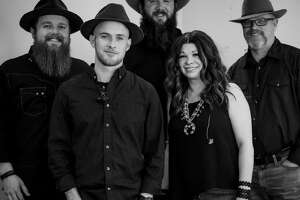 Luke McDonald (lead guitar and vocals), from left, Dylan Koen (drums), Brent Sparks (bass player), Angela Porter (lead vocals and keys) and Ron Miller (rhythm guitar and vocals, harmonica) make up the Angel and the Badmen. The Midland band is releasing its self-titled album on Jan. 9.