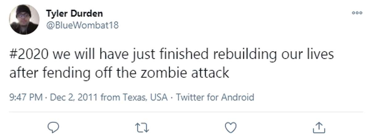 @BlueWombat18: #2020 we will have just finished rebuilding our lives after fending off the zombie attack