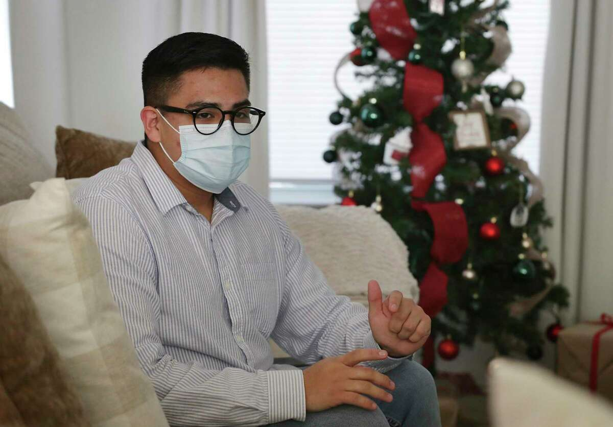 Erick Alcala, 19, was born in the U.S., but when he was 7 his parents were deported back to Mexico. He has graduated from high school, completed community college and now is looking forward to going to UTSA, on Wednesday, Dec. 16, 2020.