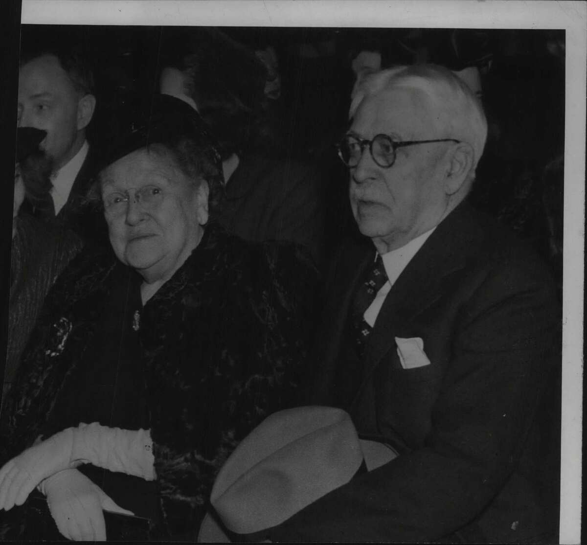Mr. & Mrs. Nathan Miller, former Governor of New York State. January 13, 1943 (Times Union Archive)