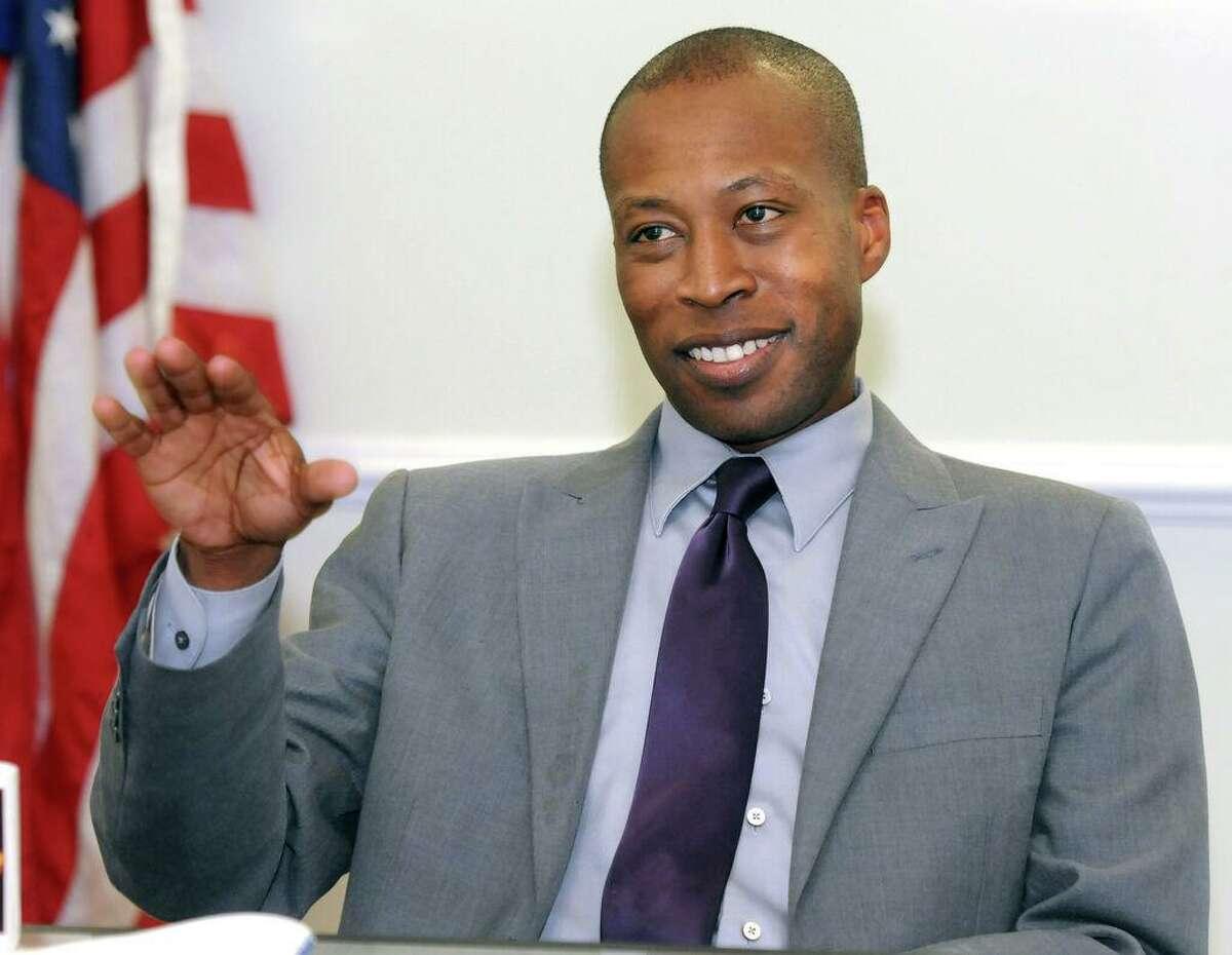 Then Hamden Mayor Scott Jackson in 2013