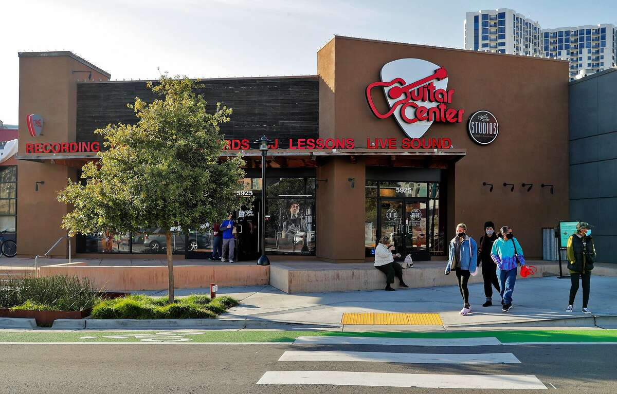 Guitar Center, which has a store in Emeryville, filed for Chapter 11 bankruptcy in November but exited on Dec. 22 after restructuring its debt. It continued to honor gift cards during its brief stay in bankruptcy.