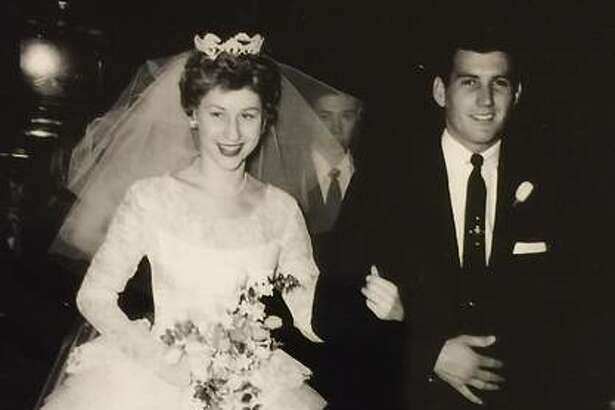 Jack and Donna Hill at their wedding