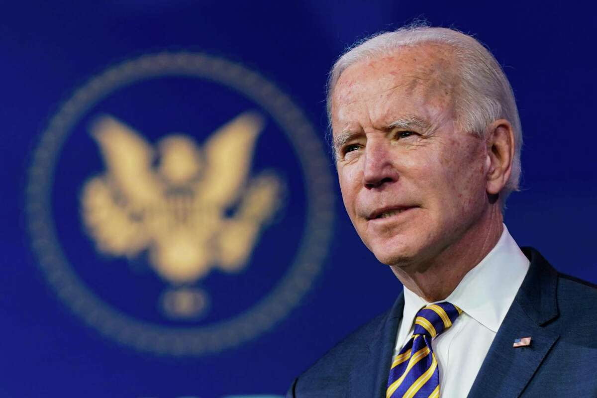 President-elect Joe Biden speaks about the coronavirus pandemic, at The Queen theater in Wilmington, Del., on Tuesday, Dec. 29, 2020. (Amr Alfiky/The New York Times)