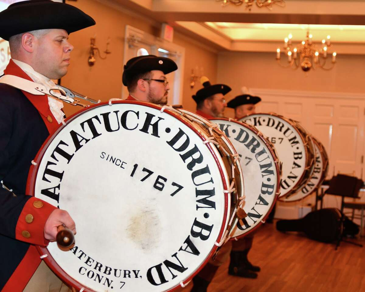 This year's Possum Queen Contest, which raises money on New Year's Day to help families or individuals facing medical hardship, is being held virtually because of the pandemic. Above, the Mattatuck Drum Band performs at the 2020 contest at the Litchfield Inn.