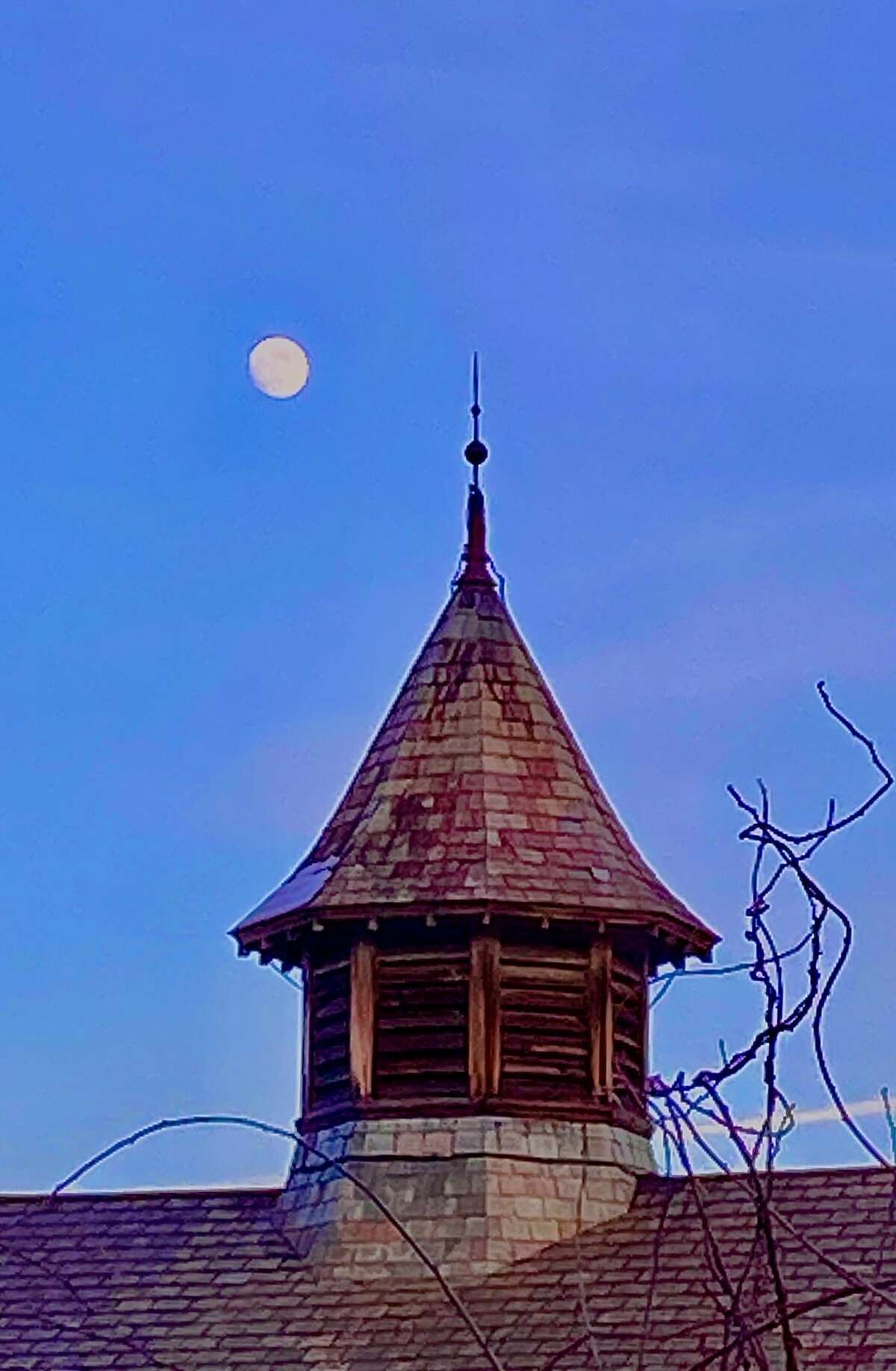 This shot from Wendy Allen of Loudonville of the cupola of the Victorian barn in Albany Rural Cemetery was taken on Sunday, Dec. 27.