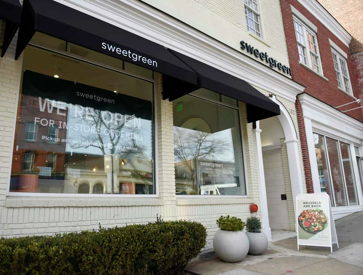 The Sweetgreen fast casual salad restaurant at 102 Greenwich Avenue in Greenwich, Conn., photographed on Wednesday, Dec. 30, 2020.