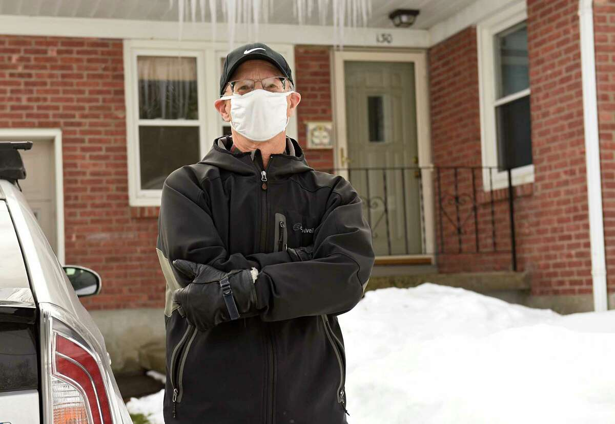 Howie Stoller stands outside his home on Monday, Dec. 21, 2020 in Albany, N.Y. (Lori Van Buren/Times Union)