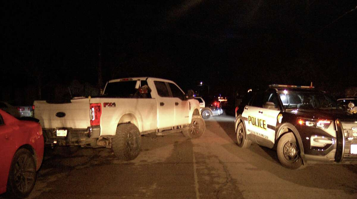 A 14-year-old girl was struck by a pickup truck while lighting fireworks in a South Side street, police said.