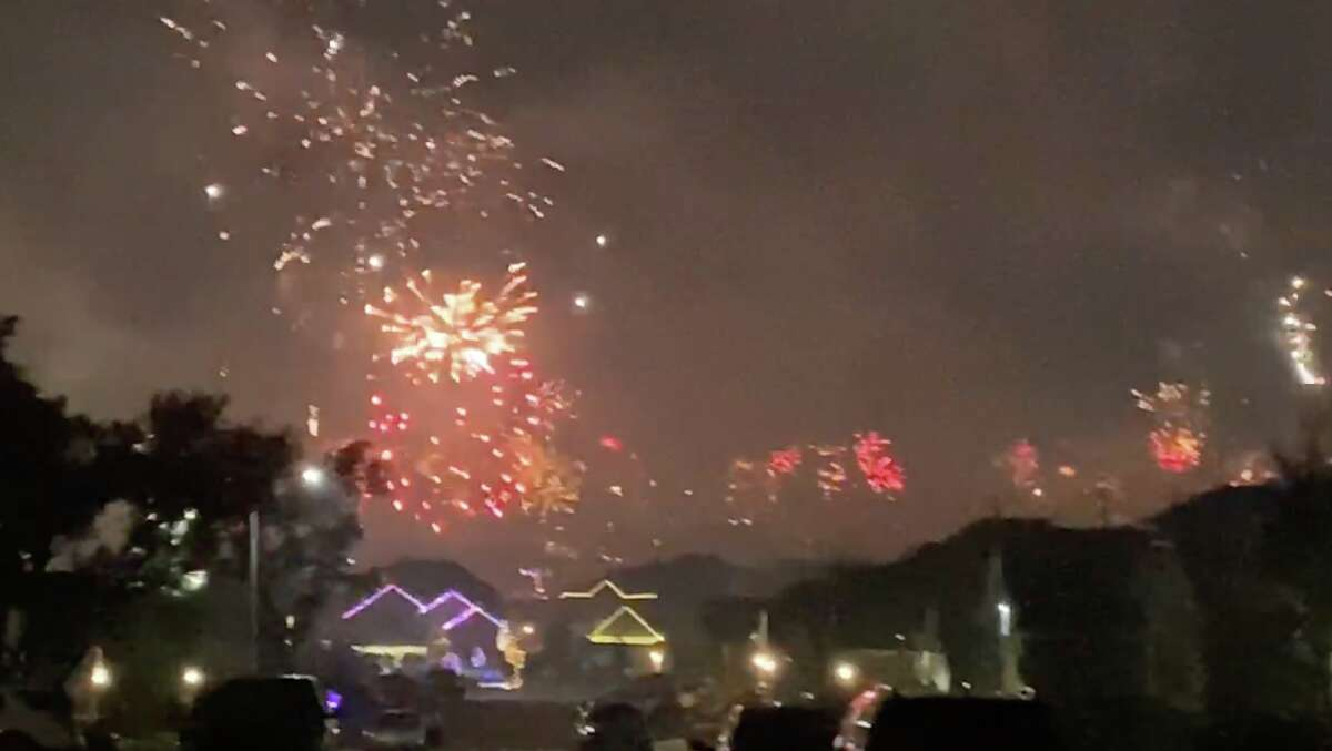 Pyrotechnics blasted off across the Alamo City on New Year's Eve, from the official San Antonio Parks Foundation show to amateur - but no less spectacular - neighborhood productions.