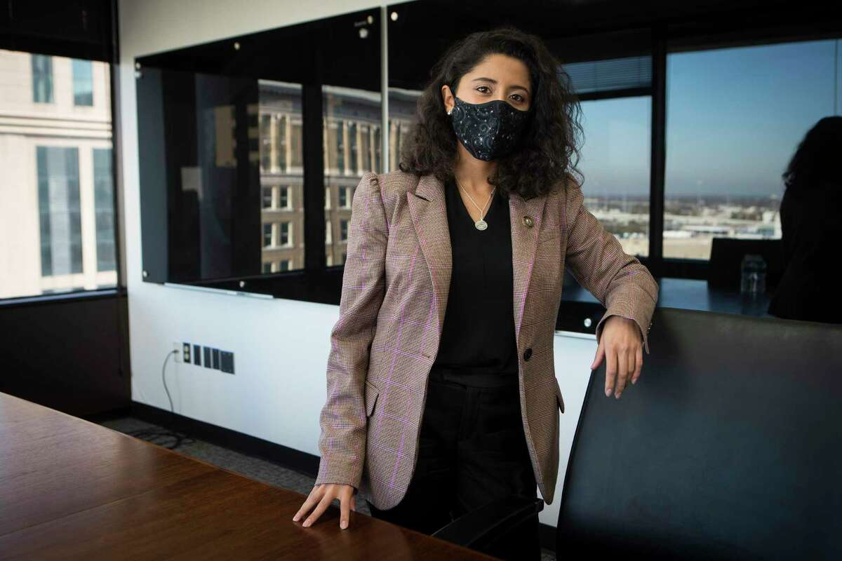 Harris County Judge Lina Hidalgo poses for a portrait at the Harris County Administration Building Thursday, Dec. 17, 2020 in Houston.