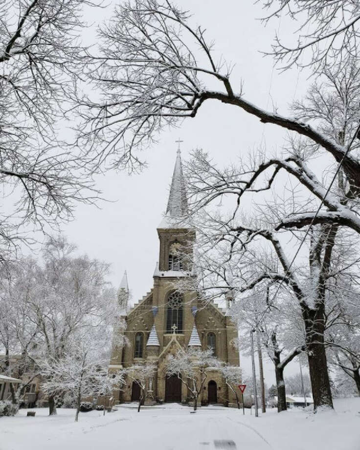 1. This photo shows a crisp wintry scene at Guardian Angels Catholic Church in Manistee in late January. Photo: News Advocate Instagram