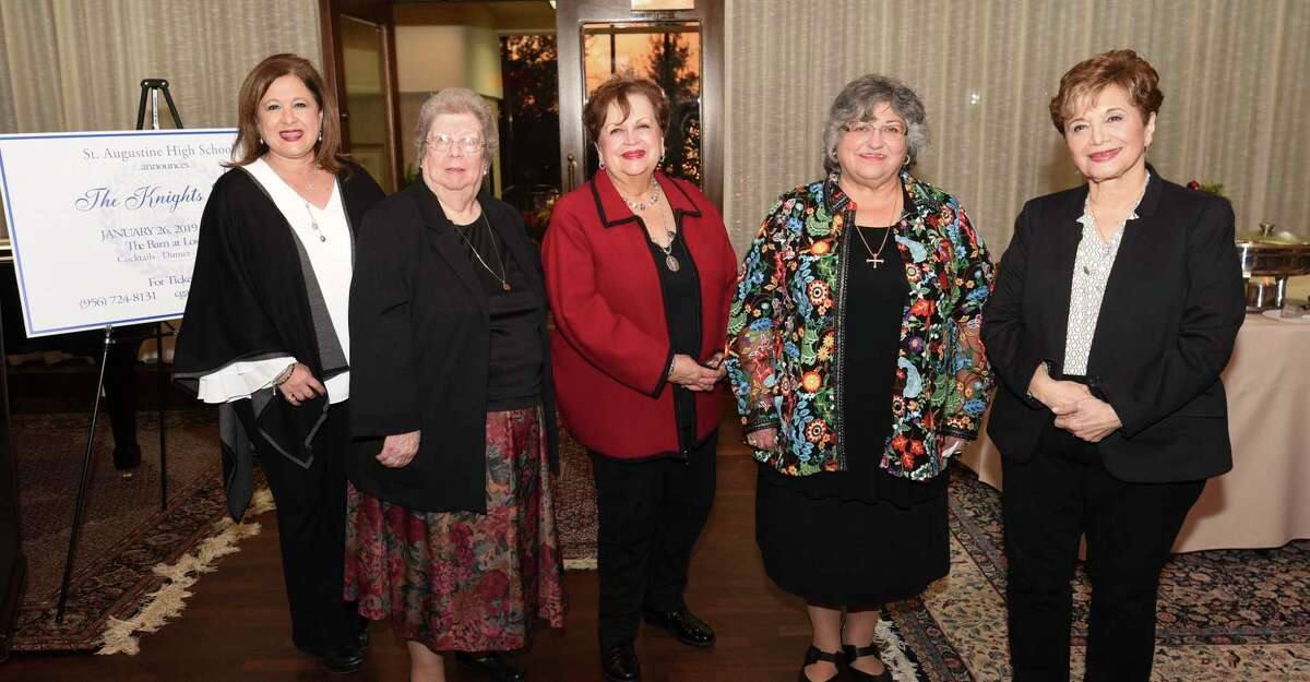 Lucy Cardenas, second from right, is pictured at The Knights Gala in 2018 at IBC Bank's Sanchez Neiman Suite along with other honorees. Cardenas, the first woman chancellor for the Diocese of Laredo, a former Laredo College professor and a community leader died on