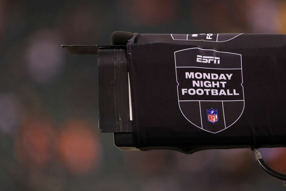 CINCINNATI, OH - DECEMBER 21: A camera with a ESPN Monday Night Football banner during the game against the Pittsburgh Steelers and the Cincinnati Bengals on December 21, 2020, at Paul Brown Stadium in Cincinnati, OH. (Photo by Ian Johnson/Icon Sportswire via Getty Images)