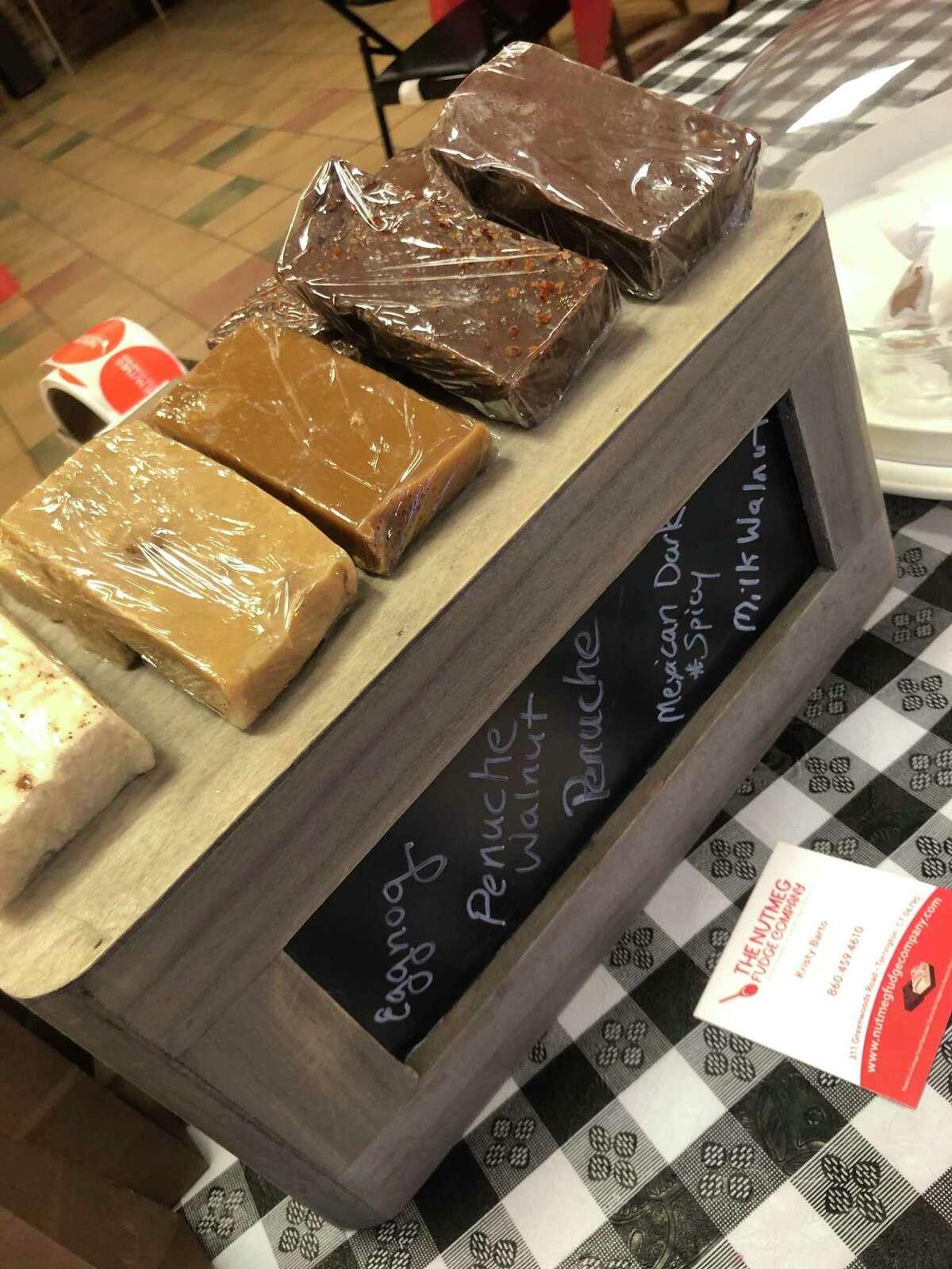 Some of Kristy Barto's homemade fudge