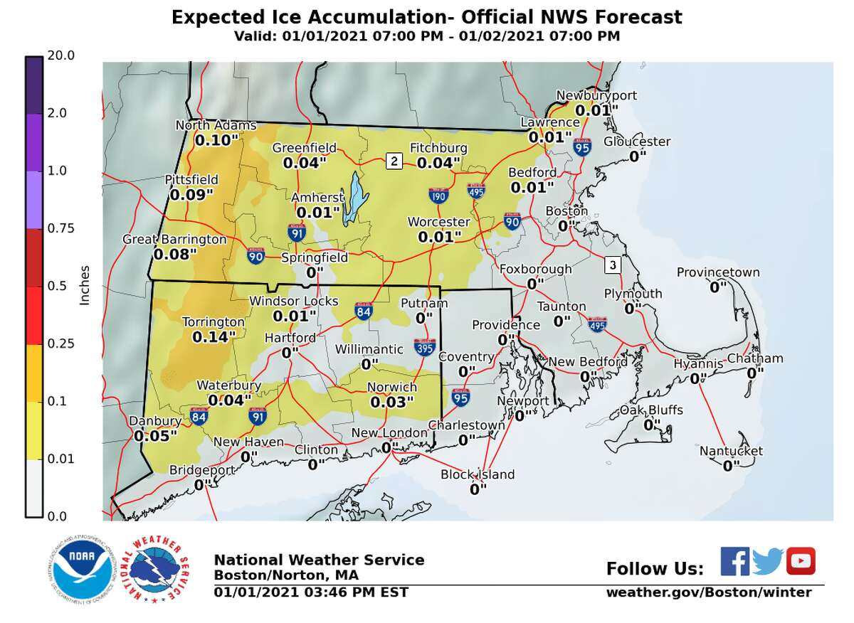 Snow accumulation forcast