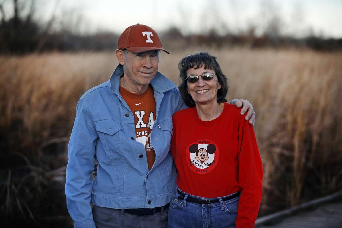 Patrick and Mary Dearen are seen at the I-20 Wildlife Preserve in December 2018. The couple met at the Reporter-Telegram in 1981.
