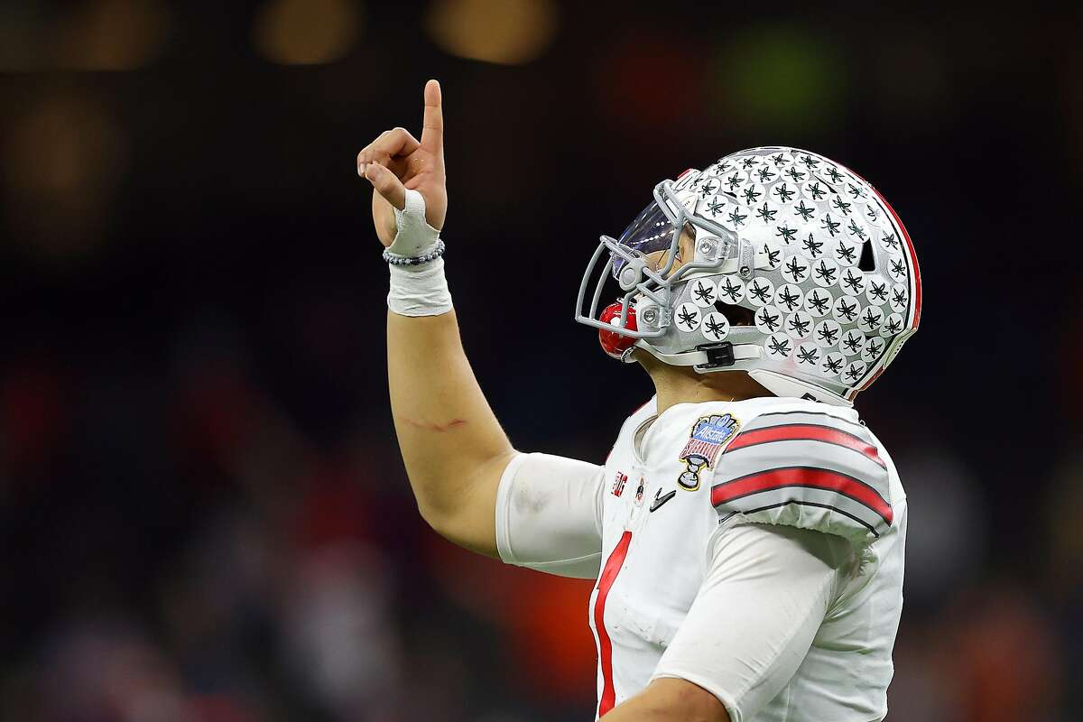 Ohio State quarterback Justin Fields set a Sugar Bowl record with six touchdown passes.