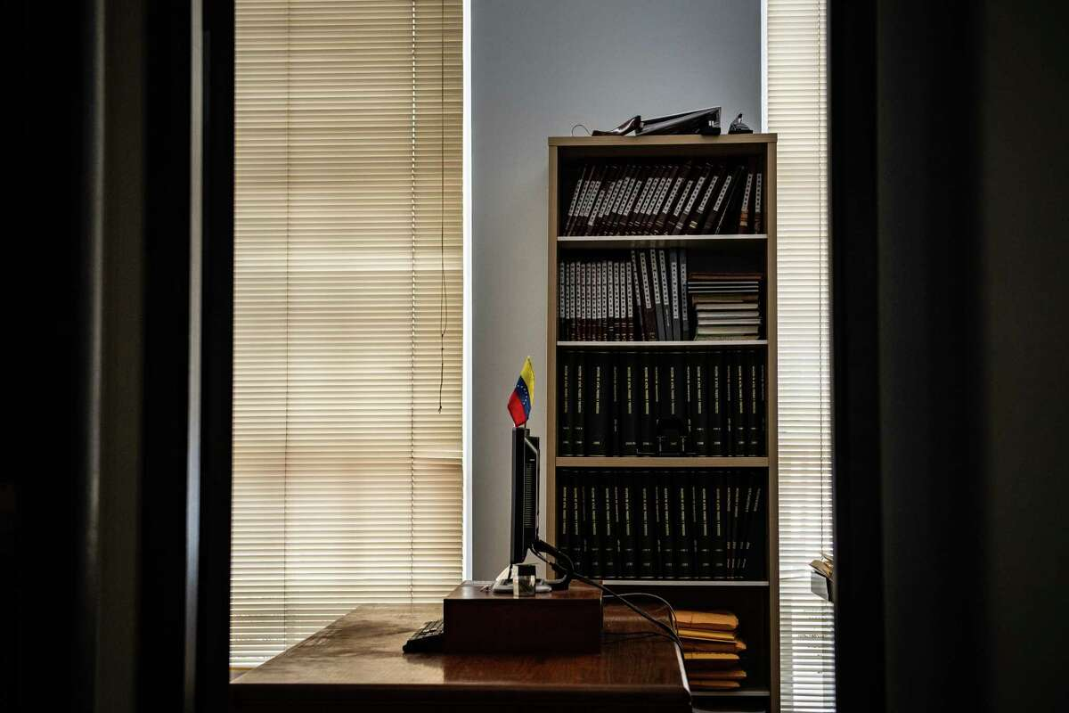 A room inside the Venezuelan Embassy in Washington is seen in April 2019.