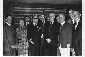 Adirondack Park Agency appointees with New York Governor. September 28, 1971 (Times Union Archive)