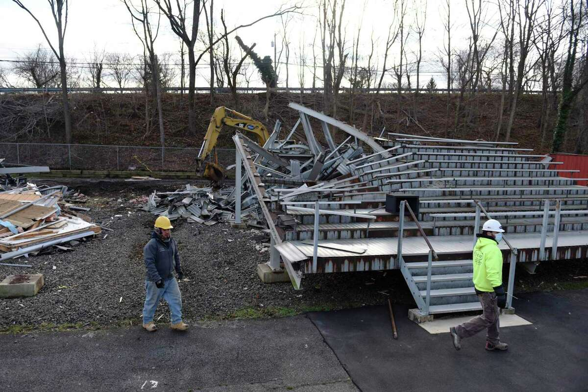 The old Cardinal Stadium home bleachers were demolished and taken away late last year. The new ones that will be installed are part of a project designed to address accessibility issues at the stadium.