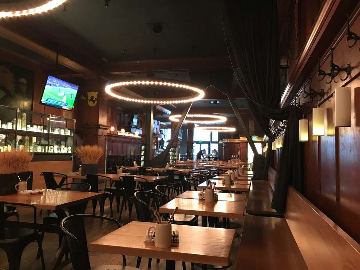 The interior of Schroeder's as seen in 2018, following a remodel of the longstanding hofbrau which has existed in various locations around San Francisco since 1893.
