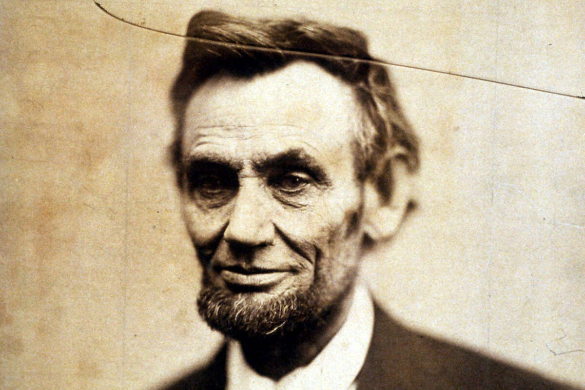 This file portrait of President Abraham Lincoln dated Feb. 5, 1865 is on display at Washington's National Portrait Gallery. (AP Photo/National Portrait Gallery, file)
