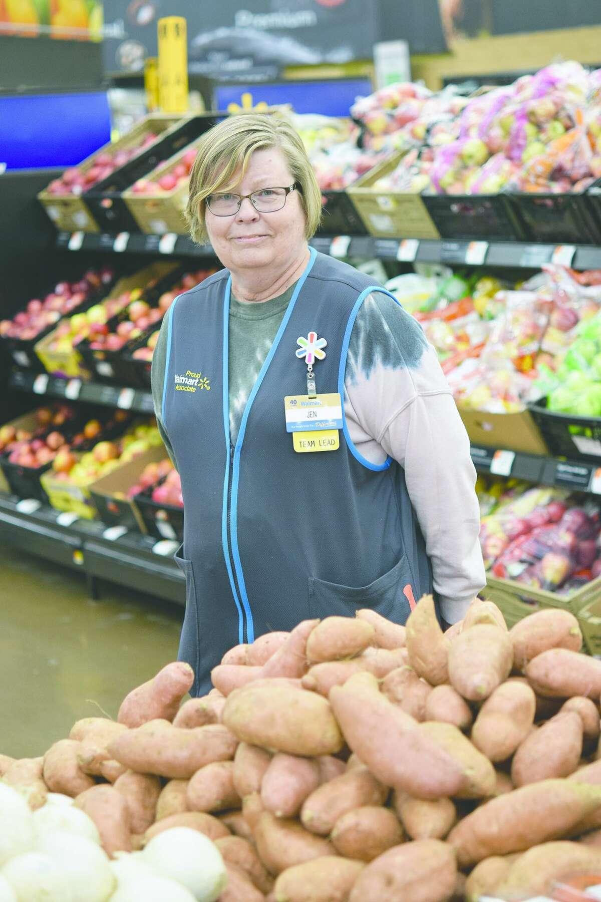 Jennifer Furlong at work at Walmart.