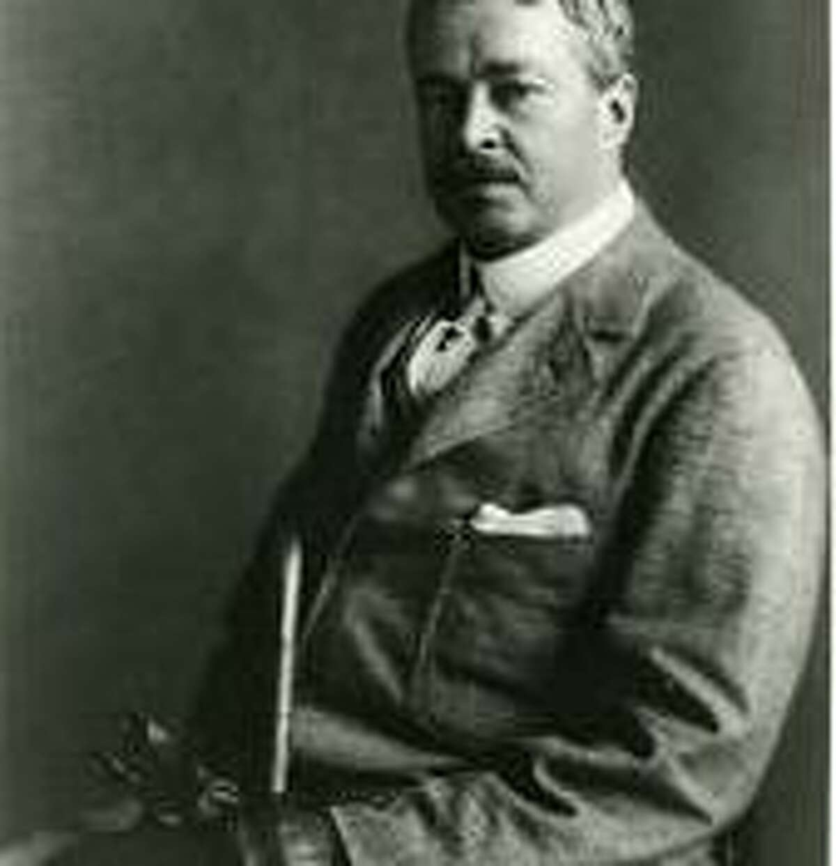 The artist Childe Hassam photographed circa 1908. The photo is part of the Greenwich Historical Society's photograph collection.