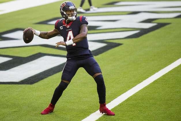 Houston Texans quarterback Deshaun Watson (4) warms up before an NFL football game at NRG Stadium on Sunday, Jan. 3, 2021, in Houston. Photo: Brett Coomer/Staff Photographer / © 2021 Houston Chronicle