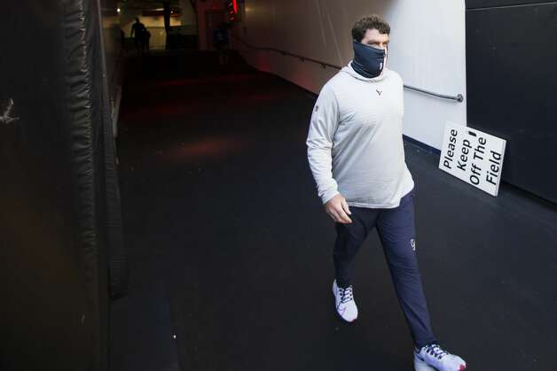 Houston Texans offensive coordinator Tim Kelly walks out to the field before an NFL football game at NRG Stadium on Sunday, Jan. 3, 2021, in Houston. Photo: Brett Coomer/Staff Photographer / © 2021 Houston Chronicle