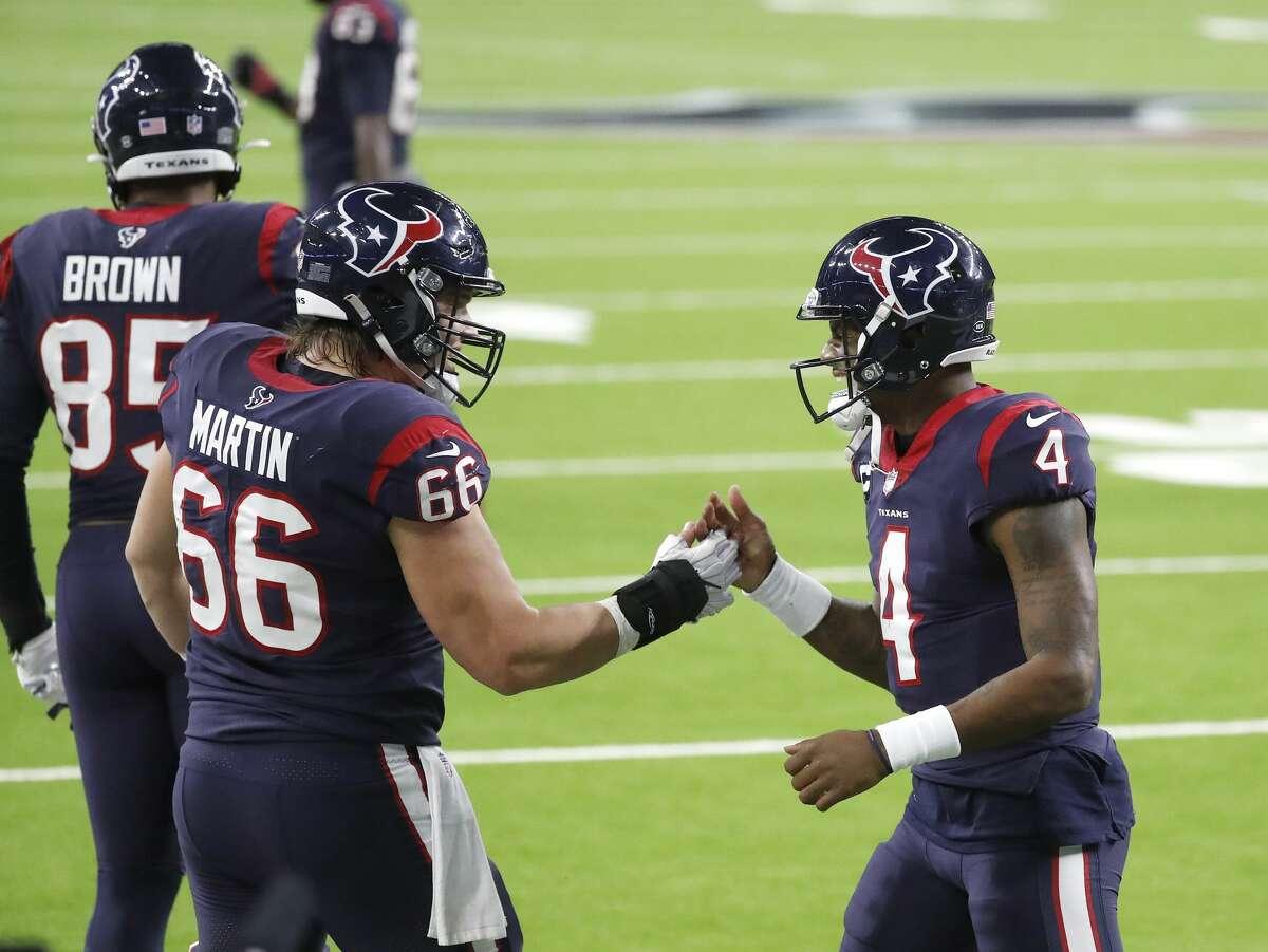 Center Nick Martin predicted the Texans will start winning again behind star quarterback Deshaun Watson.