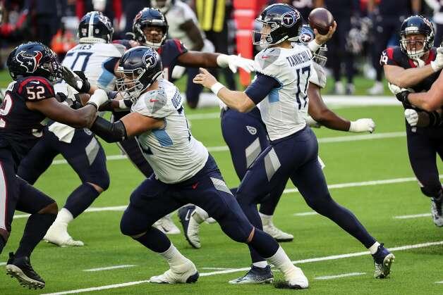 Tennessee Titans quarterback Ryan Tannehill (17) passes against the Houston Texans during the third quarter of an NFL football game at NRG Stadium on Sunday, Jan. 3, 2021, in Houston. Photo: Brett Coomer/Staff Photographer / © 2021 Houston Chronicle