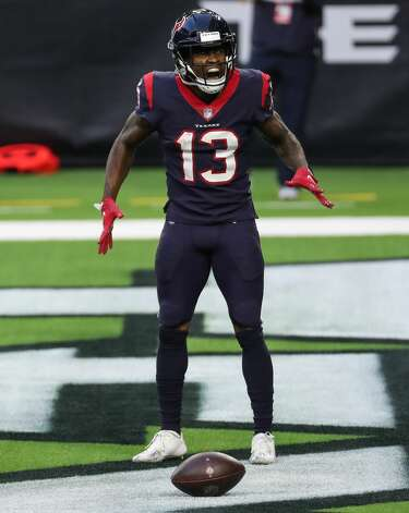 Houston Texans wide receiver Brandin Cooks (13) celebrates his 38-yard touchdown reception against the Tennessee Titans during the third quarter of an NFL football game against the Tennessee Titans at NRG Stadium on Sunday, Jan. 3, 2021, in Houston. Photo: Brett Coomer/Staff Photographer / © 2021 Houston Chronicle
