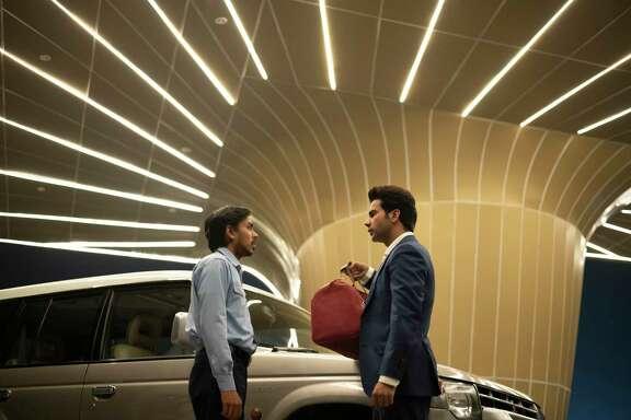 Adarsh Gourav (Balram) and Rajkummar Rao (Ashok) in 'The White Tiger'
