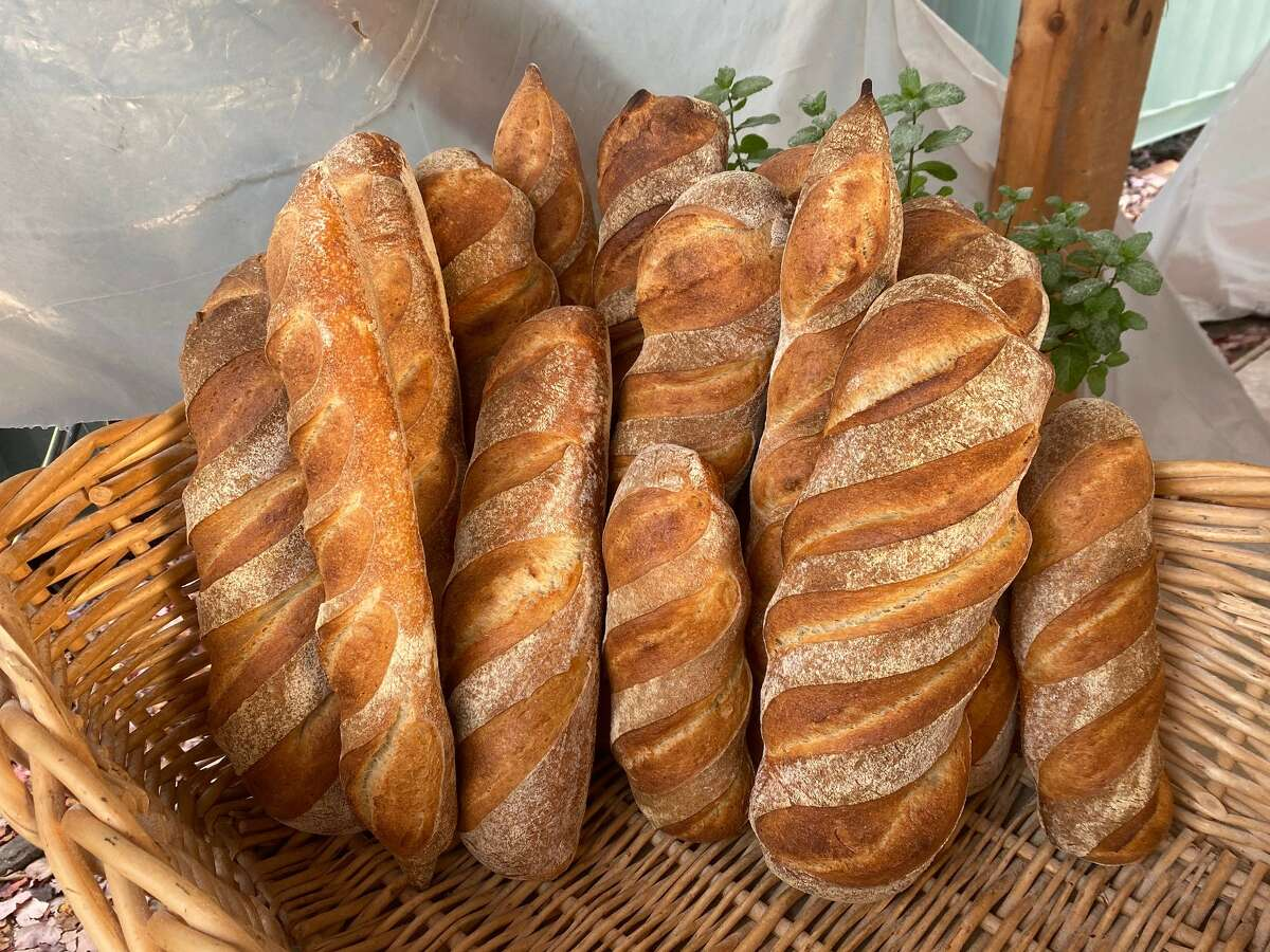 Fresh bread available at the See and Be Kitchen in Cairo.
