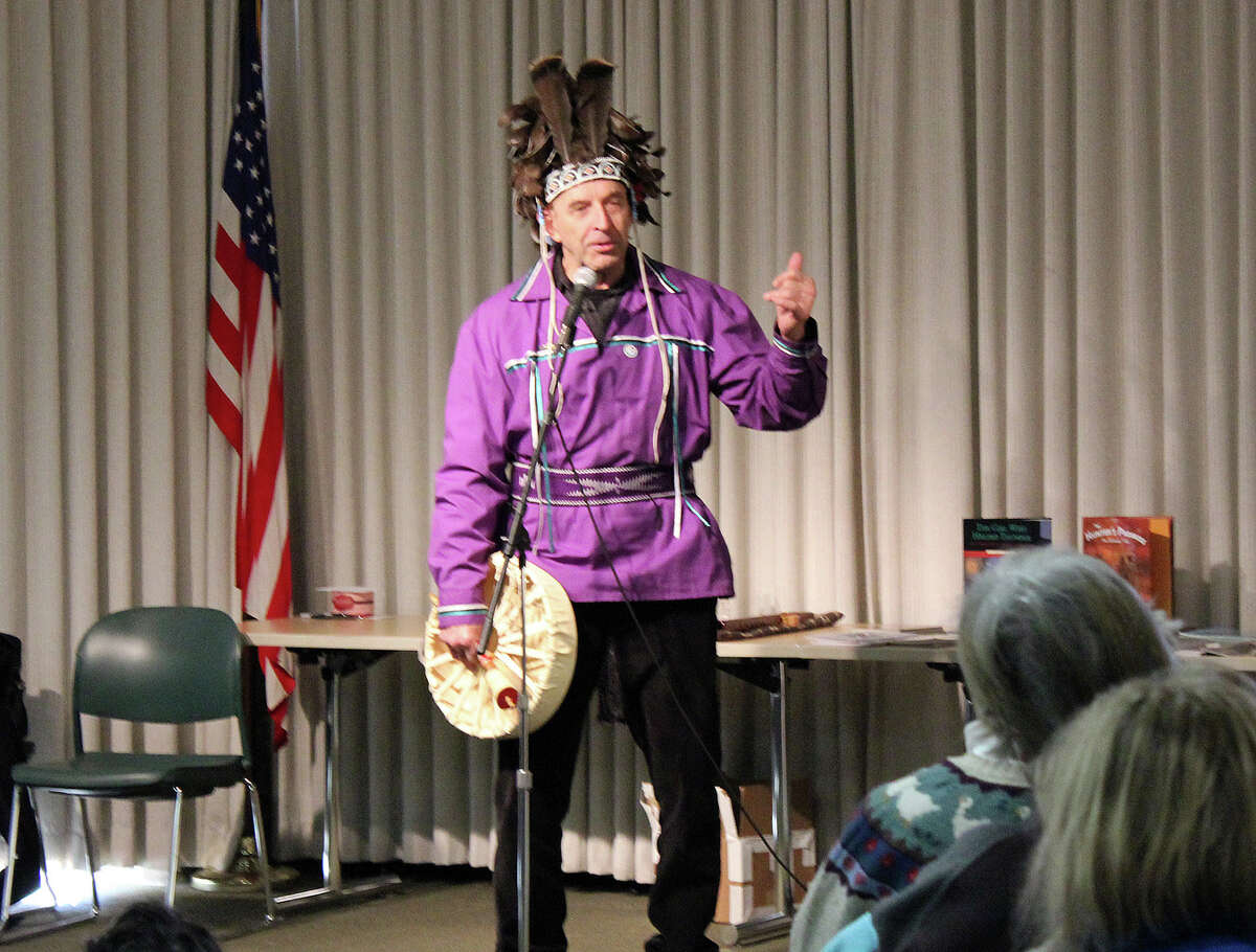 Joseph Bruchac of Greenfield Center tells traditional tales of the Adirondacks and Native peoples.