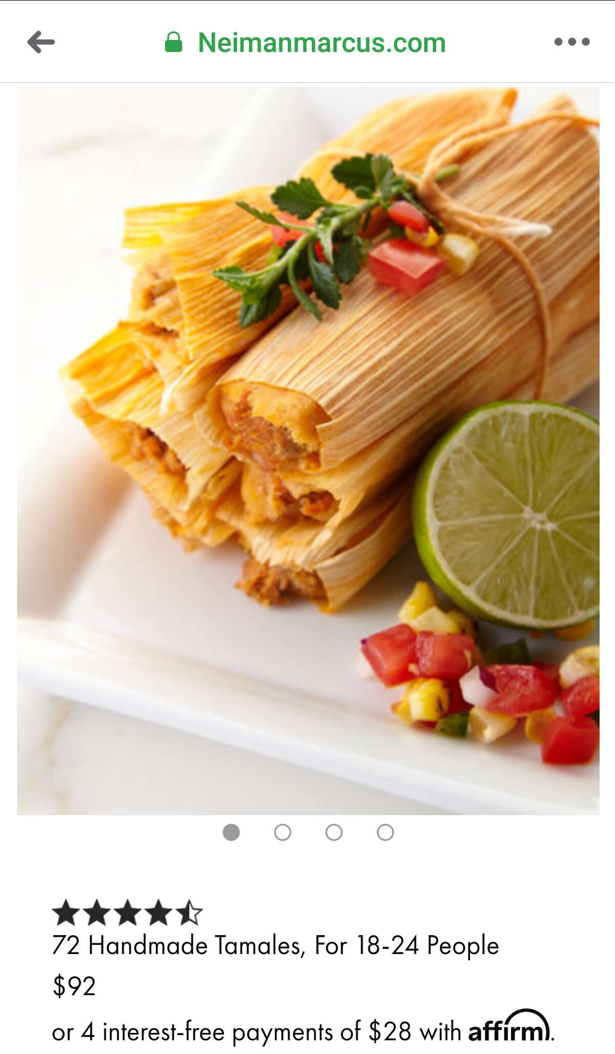Tamales come in assorted flavors such as pork, chicken, and beef.