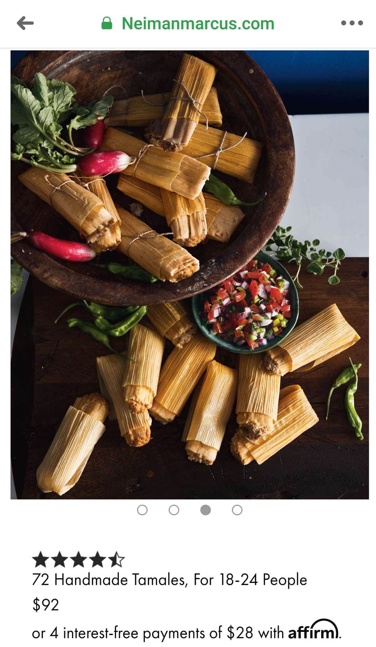 Neiman Marcus selling tamales for $92.