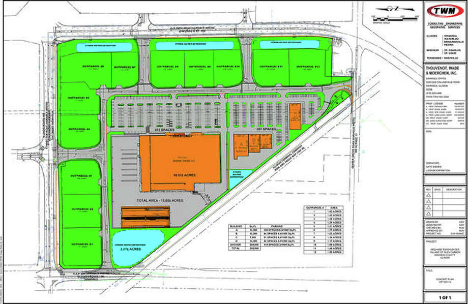 Orchard Town Center's preliminary site plan.