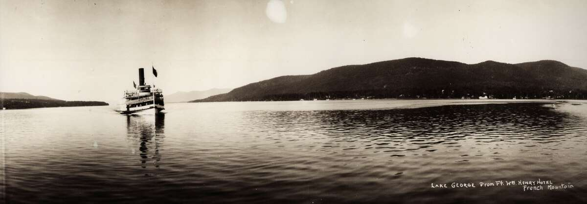 J. S. Wooley (American 1867-1930), Lake George from the Ft Wm Henry Hotel French Mountain, no date, vintage negative, contemporary print, Collection of Matt Finley