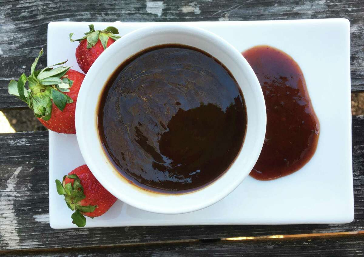 Strawberry barbecue sauce is a sweet and tangy topping that works well with chicken and pork.