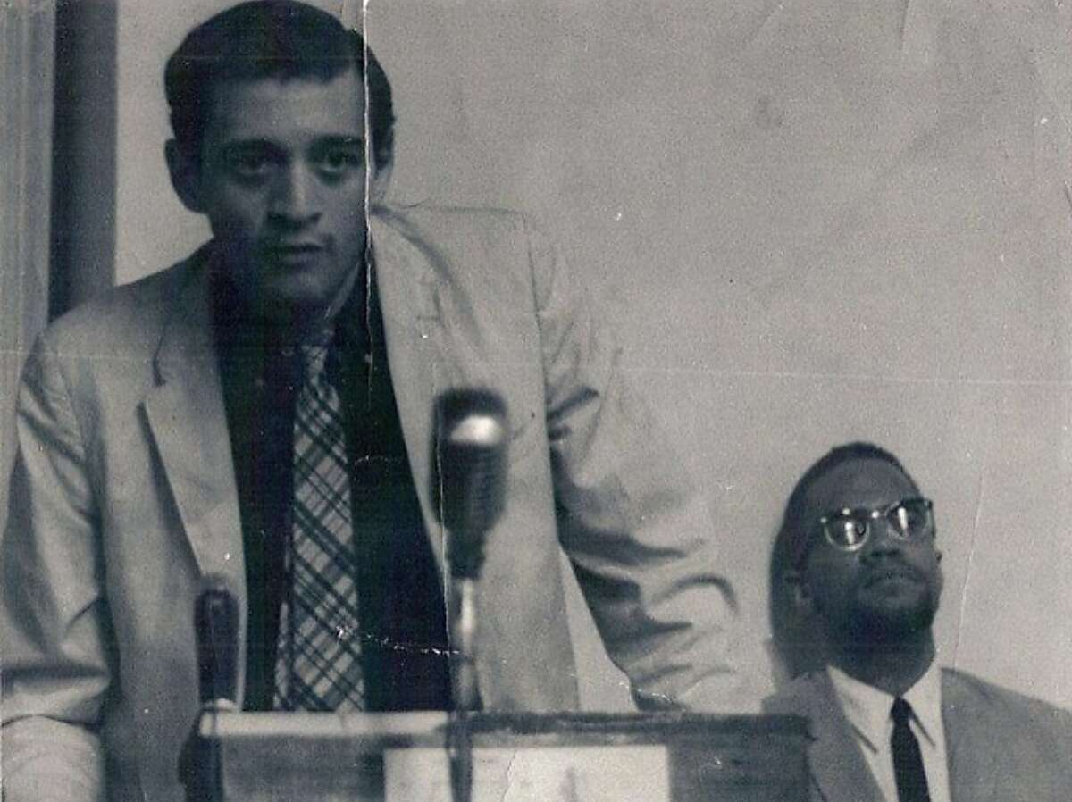 Q.R. Hand Jr. (left), a Black poet originally from New York who made San Francisco his home for decades, was part of the Black Arts Movement of the 1960s and 1970s and once appeared with Malcolm X.