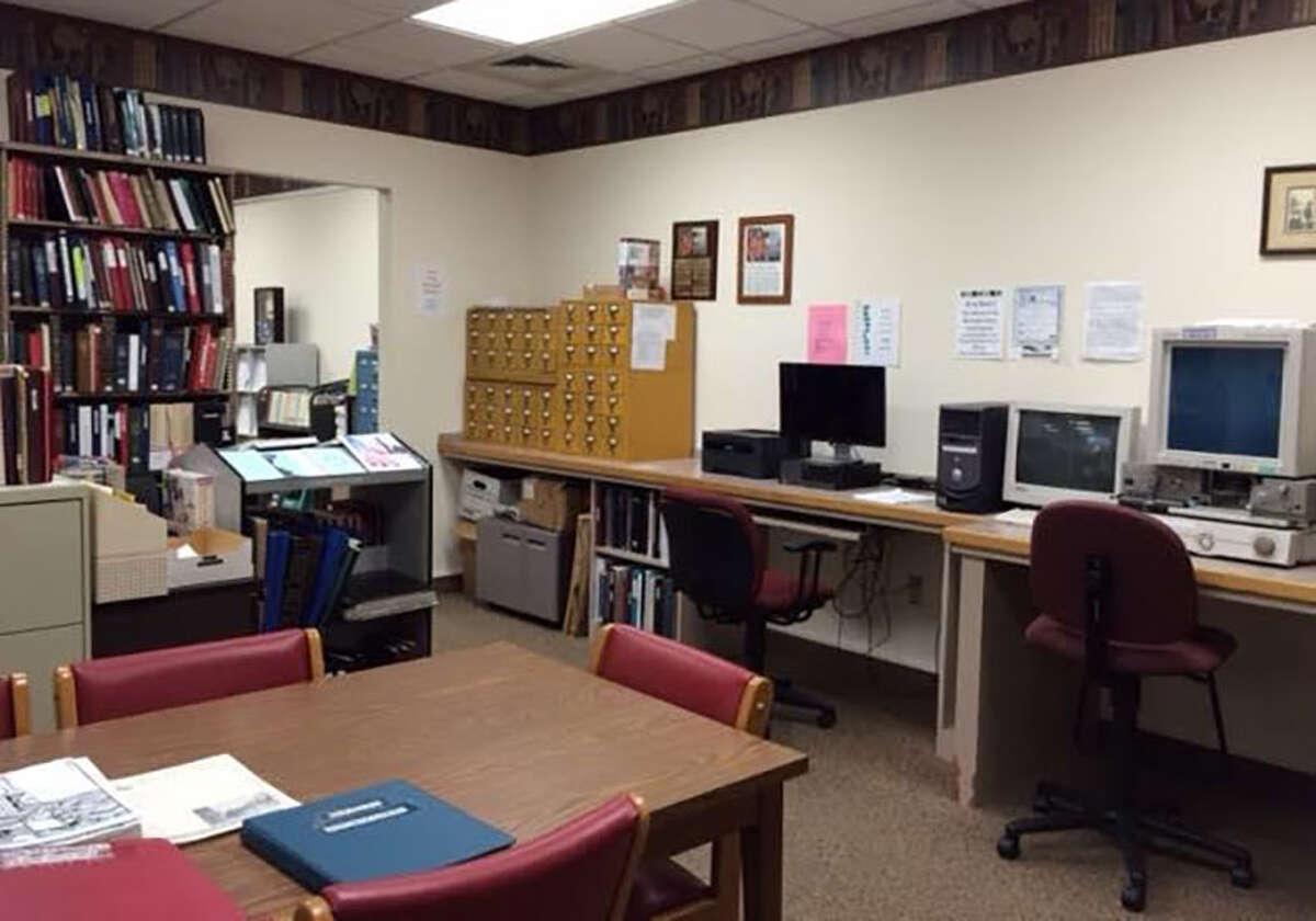 The genealogy room at Carlinville Public Library.