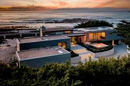 The beachside contemporary at 1145 Spyglass Hill Road in Pebble Beach overlooks Seal Rock Beach, Cypress Point and the Pacific Ocean and is available for $16.9 million.