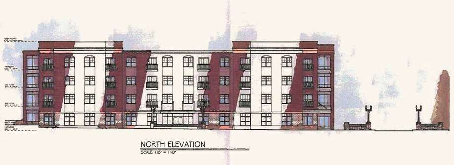 The Oceana County Housing Commission plans to have 46 senior housing apartments at the 443 Water St. location. (Courtesy photo)