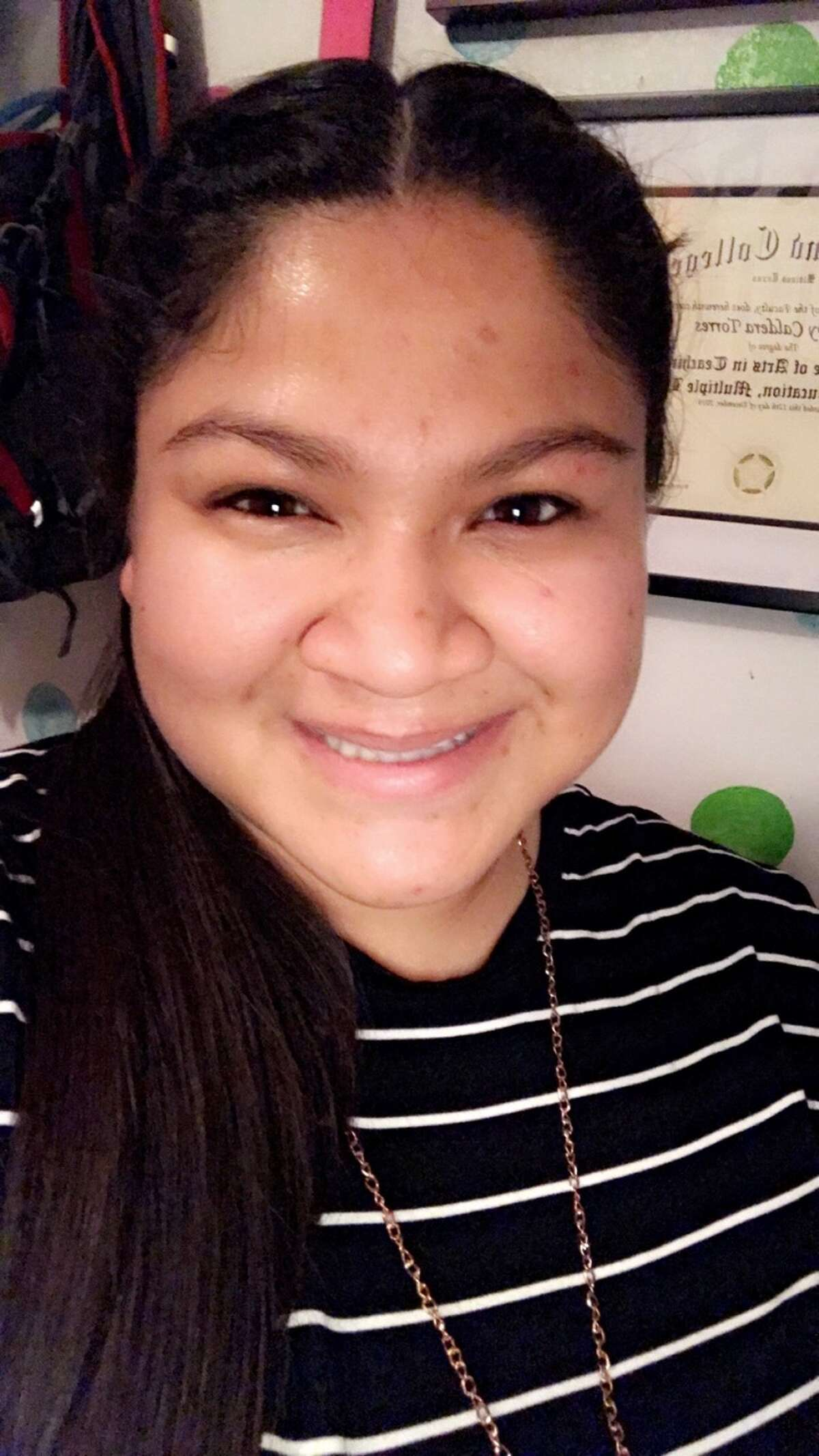 """Fabby Torres' primary goal is to teach Pre-K and help others achieve their goals.""""I want to stay in Midland because this is my community,"""" she said. """"People in my life made a difference with me, and I will strive to make a difference for others. I want to educate the younger minds and help guide them toward their future."""""""